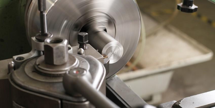 Rotierende Drehmaschine in Detailansicht