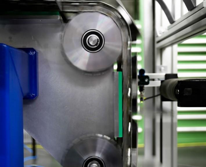 Kettenförderer Aufrichter - Detailansicht der Mechanik