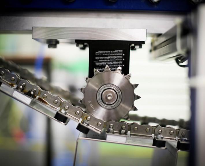 Kettenförderer Aufrichter - Detailansicht der Mechanik 2