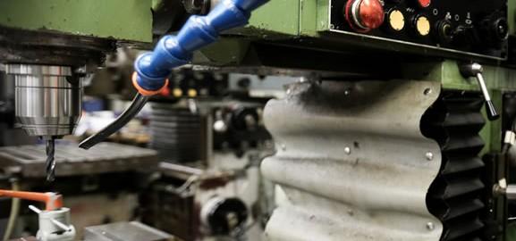 Detailansicht der Fräsmaschine Maho